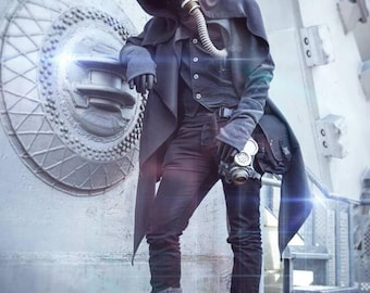 Coat coat hood assassin thief LARP steampunk
