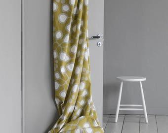 Cortina de color amarillo   cortina floral   cortina Blackout   cortinas con pliegues   paño de corteza   cortinas de la ventana   Cortina escandinava   cortina