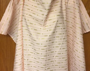 Nursing Cover - Pink and Gold Arrows Print