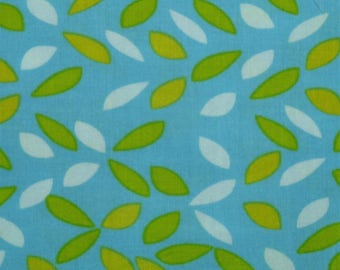 """FABRIC REMNANT - Green , Yellow, White, Blue - Slices by Anthology Fabrics - 1/2 yard (18"""" x 43/44"""")"""