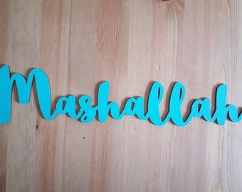 Mashallah wooden letters - different colors