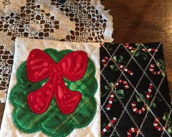 SET of 4 OR 6 Mug Rugs YOU choose from collection Christmas Gift Present Stocking Stuffer