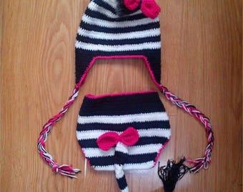 Crochet safari animal outfit