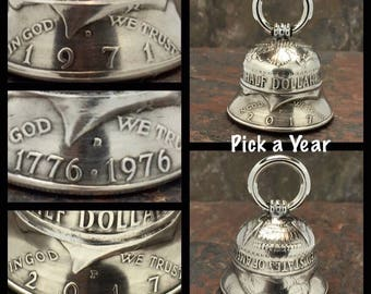 Coin Bell - Handmade (Select a  Year: 1971 - 2017)