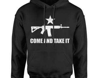 Come And Take It 2nd Amendment Gun Rights Adult Hoodie Sweatshirt