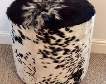 Cowhide footstool, upholstered footstool, chairs and ottomans, home and living