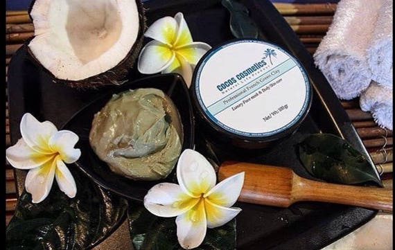 Sale French green clay mask / facial green mask