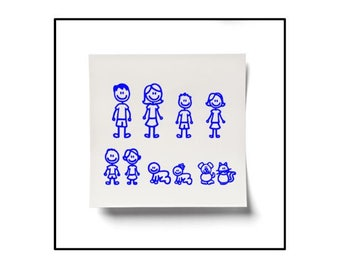 Family Car Stickers Etsy - Family car sticker decals