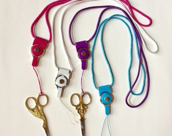 Detachable lanyard for scissors and more