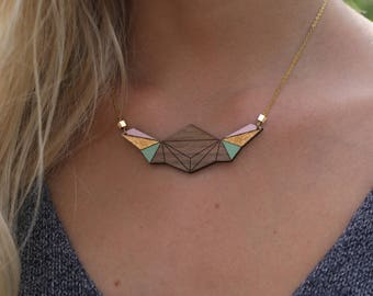 The wooden BUTTERFLY Choker necklace