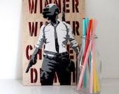 Player Unknowns Battlegrounds Wall Art - PUBG - Winner Winner Chicken Dinner - Christmas Gift - Stocking Filler - Mancave Decor - Gamer Art
