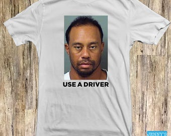 Tiger Woods Mugshot Shirt | Funny Pop Culture Apparel | Celebrity Tee | Professional Golf Player T-Shirt