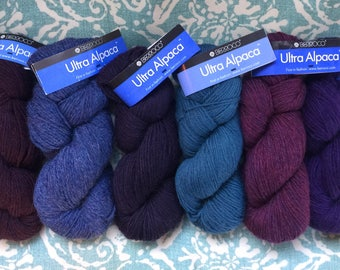 Berroco Ultra Alpaca Yarn 8.99 +1.50ea Ship Boysenberry 6282-Denim 6287- Purple 6244-Cadet 6252-Berry Pie 62171-Deep Purple 66221 MSRP 12.00
