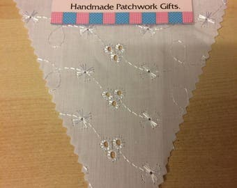 Broderie Anglais Bunting ideal for weddings