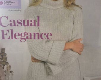 Ladies Over size Jumper Knitting Pattern
