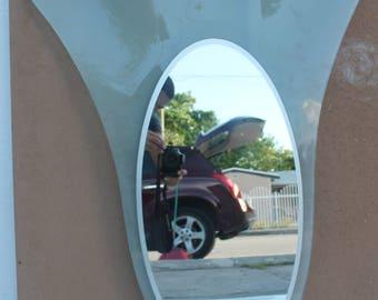 Fontana  Art Glass Italy Wall Mirror.