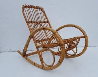 Franco Albini  Rattan  Rocking Chair .