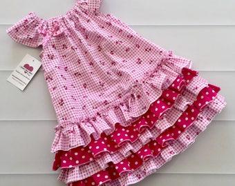 Girls Dress, Ruffle Dress, birthday dress, girls party dress, size 3 dress