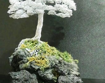 Wire Bonsai on the rock