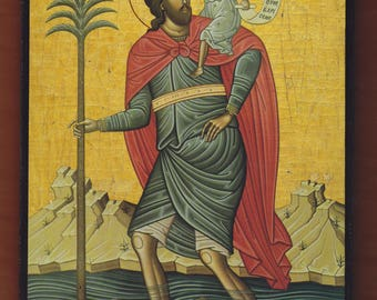 Christopher the Martyr of Lycea,mount Athos.Christian orthodox icon. FREE SHIPPING