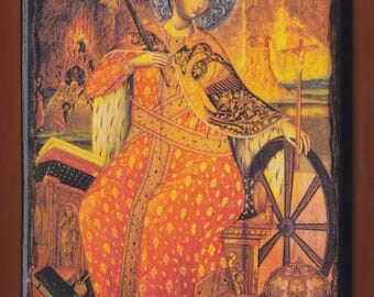 Saint  Catherine.Christian orthodox icon.FREE SHIPPING.