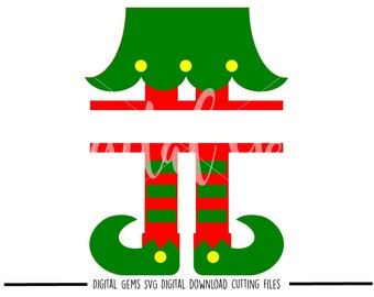 Split Elf Legs svg / dxf / eps / png files. Digital download. Compatible with Cricut and Silhouette machines. Small commercial use ok.