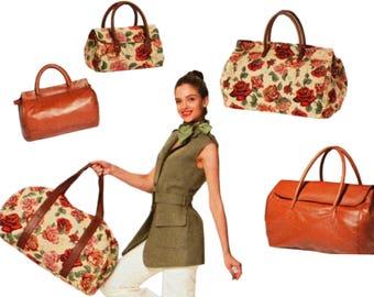 Duffel Bag Pattern Duffle Bag Pattern BURDA 7119 UNCUT Carry On Bag Overnight Bag Luggage Pattern Suitcase Pattern Travel Bag Pattern