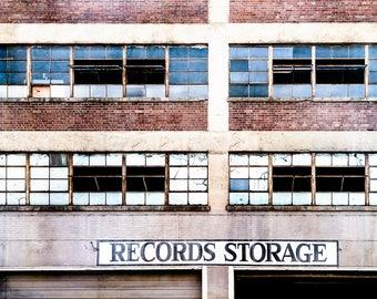 Nashville Photography, Music Lover's Art, Man Cave, Media Room Decor, Records Art, Urban Photograph, Nashville Print, Architectural Photo
