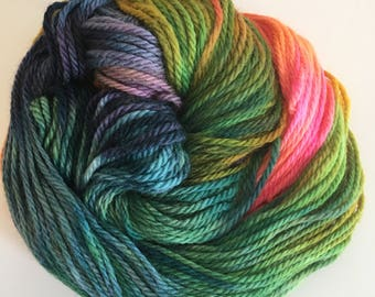 Pure Wool Hand Dyed Bluefaced Leicester Aran Aurora Northern Lights