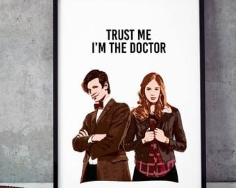 Trust Me, I'm The Doctor, Doctor Who Poster, Doctor Who Vector Art Print, Illustrations, Typography, Home/Office Decor Poster, Gift Idea