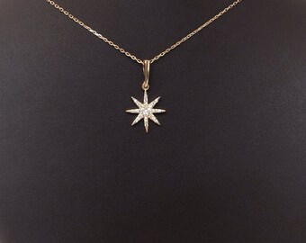 charm, Pendant, Necklace / North Star Necklace / Polaris Necklace, Sterling Silver Star Necklace,FREE SHIPPING G,Christmas Gift