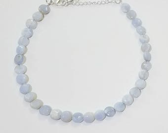 Lacey Blue Agate Choker, adjustable*