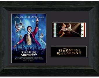 The Greatest Showman  35 mm Film Cell Display Comic con FRAMED stunning