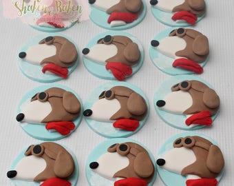 Snoppy Edible Cupcake Toppers