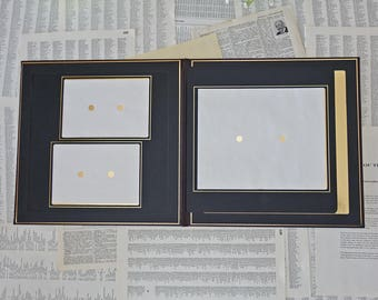 Vintage photo album One 8x10 and Two 5x7 Burgundy album photo Art leather album