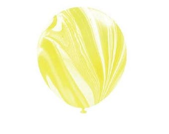 Yellow Marble Latex Balloons, Yellow & White Marble Balloons, Party Balloons, Wedding Balloons, Party Decorations, Marble Decor, Baby Shower