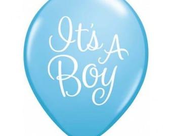 It's a Boy Balloons, Light Blue Balloons, Baby Shower Decor, Party Balloons, Blue Baby Shower, Party Decorations, New Baby, Blue Balloons