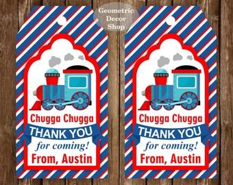 Train Printable Party - Train Birthday - Train Favor Tag - choo choo - Chugga - printable party - 2nd - first birthday - boy - FTrain2