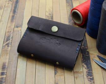 Leather business cardholder, pocket cardholder, card case