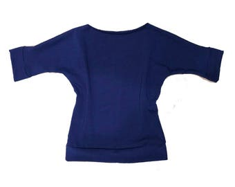 Claire Slouch Top in Royal