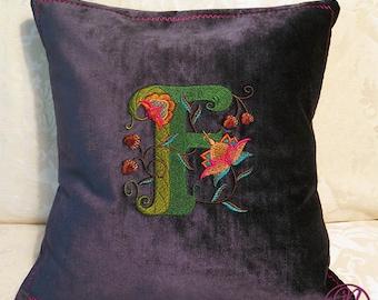 Custom Monogram Throw Cushion