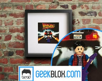 Back to the Future Framed Lego Minigure