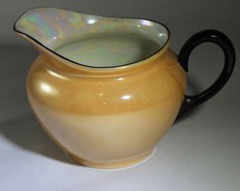 Vintage P.A.L.T. Czech Lusterware Orange/Peach Creamer
