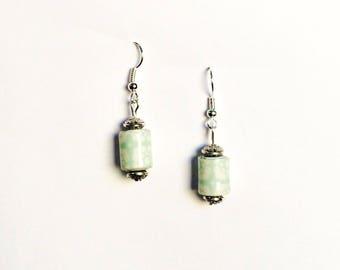 """Earrings Bohemian earrings series """"Babies"""" - """"mint"""" - Silver support"""