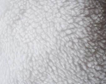 Fabric ram, sherpa snow-white   Per Metre