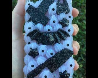 iPhone 4/s Purple Creepy Cute Themed Decoden Phone Case