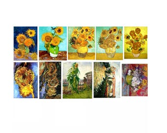 Vincent Van Gogh Stickers -Sunflowers- Labels or Stickers - MacBook Decal - Laptop Stickers - Wall Sticker - Laptop Decal - Art Stickers