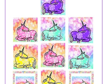 Unicorn Stickers,Labels or Stickers,MacBook Decal,Laptop Stickers,Laptop Decal,Art Stickers,Gift for Kids, GIft for Girls,Planner stickers
