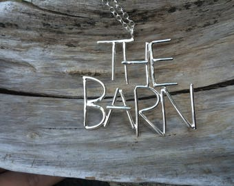 """Levon Helm Studios """"The Barn"""" Sterling Silver Necklace"""