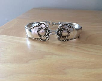 Argyle pattern spoon bracelet silver plated year 1913